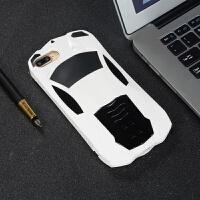 iphone7手机壳6S炫酷8Plus跑车6苹果X个性XS创意iphoneX小汽车新款半包硬壳ipX 8plus白色