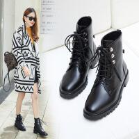 靴子高跟英伦风马丁靴女鞋 冬季高帮鞋女birkenstock马丁靴女短靴