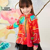 【3件7折价:230.3元】马拉丁童装女大童衬衫春装2020年新款洋气中国风图案长袖衬衫