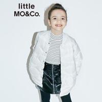 littlemoco秋冬新款儿童羽绒服保暖白鸭绒中长款男女童羽绒服外套