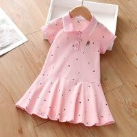 【3件2折价:48元】斯提妮女童连衣裙儿童夏季裙子2021新款小女孩韩版学院风短袖POLO裙童装