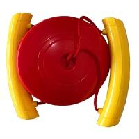 儿童玩具健身拉力球锻炼手臂力量扩胸幼儿体育感统运动器材拉力器 红色 平面环保款