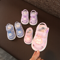 男女宝宝凉鞋布鞋夏6-12个月 婴儿软底凉鞋舒适0-1-2岁宝宝学步鞋
