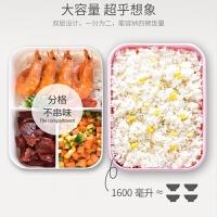 学生饭盒可微波炉加热专用三格饭盒学生女韩版可爱塑料保鲜盒