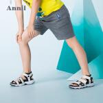 【2件35折:70】安奈儿童装夏季新款儿童运动短裤男童五分裤子休闲印花中裤薄款