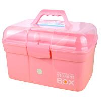 新款小学生画画美术大号工具箱美容美甲收纳盒家用塑料手提便携