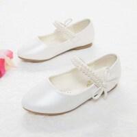 女童芭蕾舞鞋皮鞋春秋2019新款单鞋公主鞋学生白色演出舞蹈宝宝