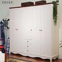木质欧式儿童家具美式乡村大衣橱衣柜 三门衣柜