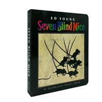 英文原版 Seven Blind Mice 七只瞎老鼠 纸板书 纸板书 [4-8岁]
