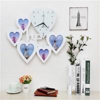 心形LOVE相框挂钟 餐厅钟表 创意静音挂表简约时钟客厅婚房卧室装饰