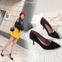高跟鞋女职业高跟鞋舒适粗跟细跟高跟鞋女工作鞋日常大码鞋