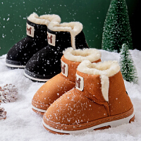 儿童棉拖鞋包跟可爱卡通男女宝宝小孩秋冬季加厚保暖毛绒外穿