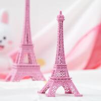 少女心粉色巴黎埃菲尔铁塔家居创意装饰品摆件ins风拍摄摆拍道具