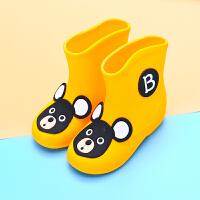 纯色儿童雨鞋 中低筒防滑底雨靴 男女童宝宝轻便防滑水鞋套鞋