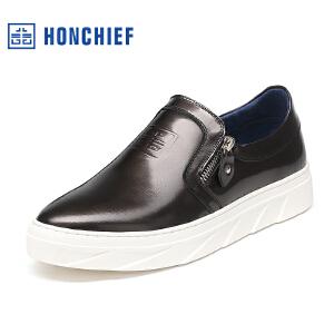 红蜻蜓旗下品牌  HONCHIEF男鞋休闲鞋秋冬鞋子男板鞋KTA1017
