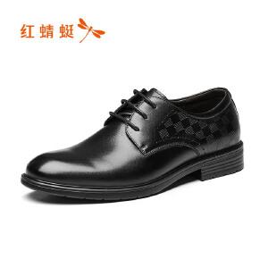 红蜻蜓男鞋商务休闲皮鞋秋冬鞋子男WTA7629