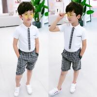 童装男童短袖套装夏装宝宝儿童幼儿园六一礼服