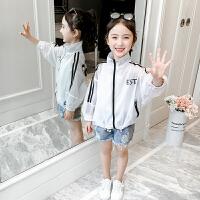 网红女童防晒服2019新款儿童薄外套女孩空调衫时髦皮肤衣