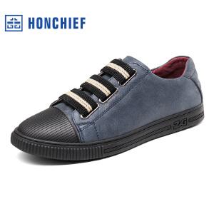 红蜻蜓旗下品牌  HONCHIEF  男鞋休闲鞋秋冬鞋子男板鞋KTA7217
