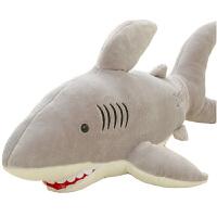 鲨鱼抱枕可爱毛绒玩具公仔创意手偶海豚玩偶情侣儿童生日礼品 鲨鱼抱枕