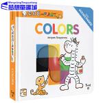 英文原版绘本 Zoe and Zack Colors 颜色 纸板翻翻书 想象力 艺术启蒙 基础认知 含透明片Twirl