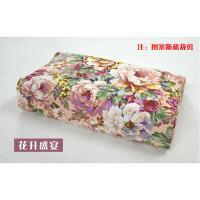 秋冬季乳胶枕头套60x40棉橡胶儿童50X30记忆枕芯套j 桔色 花开盛宴