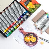 Marco马可 美术设计经典手绘24/36/48/72色油性绘画彩铅秘密花园填色用专业学生马克彩色铅笔铁盒装A7100