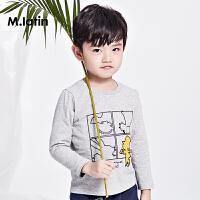 【2件2.5折:49元】马拉丁童装男小童T恤春款时尚舒适圆领趣味儿童上衣