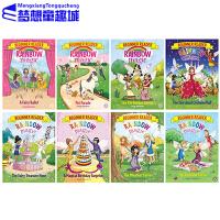 【全店满300减80】彩虹魔法仙子 入门级 分级读物  英文原版 Rainbow Magic Beginner Readers 8册合售 全彩儿童分级读物 图画故事书