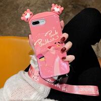 韩国立体卡通iPhone8plus手机壳苹果x可爱女款xs amx带挂绳7plus韩国潮牌xr新款6