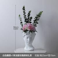北欧创意人像花器维纳斯女神雕像水泥花盆复古艺术插花装饰摆件抖音 中