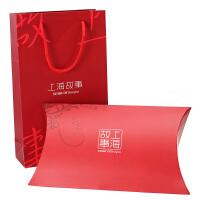 围巾包装盒上海故事丝巾礼盒礼品盒礼品袋(一礼盒一拎袋)