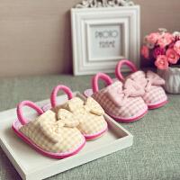 宝宝拖鞋女童1-3-6岁防滑可爱儿童婴幼儿棉布家居鞋
