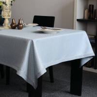 餐桌布 现代简约纯色西餐桌布布艺格子时尚茶几台布定做定制