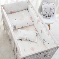 婴儿床床围宝宝床上用品套件儿童床品四五件套棉防撞可拆洗k