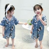 女童雪纺上衣大中式小二印花花多色t恤