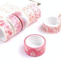 黛西手账贴纸小清新手绘花瓣富士山和纸装饰日记创意樱花手帐胶带