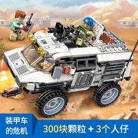 兼容乐高积木军事雷霆使命飞机坦克导弹车吉普模型男孩子益智力拼装玩具