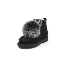 马丁靴女英伦风短靴平底女童2018秋冬季韩版高中学生棉鞋靴子女鞋