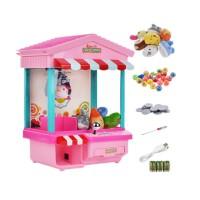 创意电动玩具儿童迷你抓娃娃机夹娃娃机公仔投币机扭蛋机男女孩抖音同款玩具送朋友儿童孩子生日礼物