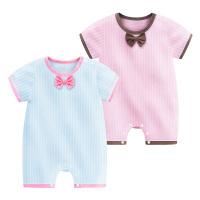 婴儿连体衣夏天3薄45宝宝哈衣6幼儿7爬行衣服绅士9个月夏装