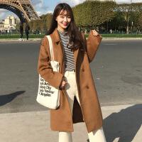2019新款韩版反季大码宽松中长款长袖毛呢子外套大衣冬季加棉厚学生女士潮