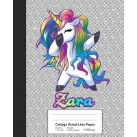 【预订】College Ruled Line Paper: ZARA Unicorn Rainbow Notebook