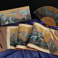 千里江山图丝绸画卷轴中国特色送老外高档礼品北京故宫文创纪念品