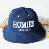 新款韩版帽子刺绣字母时尚时装帽渔夫帽盆帽女帽子