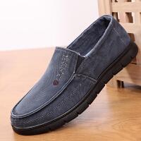老北京布鞋男休闲鞋中老年爸爸鞋轻便透气舒适软底一脚蹬懒人春款
