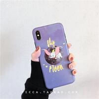 卡通紫色月球小象苹果x/xs/max/xr手机壳iphone6/7plus/8硅胶防摔