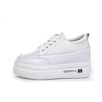 小白鞋女新款韩版内增高小码女鞋31 秋季网红休闲学生松糕鞋