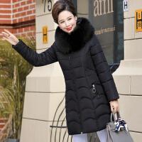 中老年女装冬装棉衣2018新款羽绒40-50岁妈妈中长款加厚棉袄