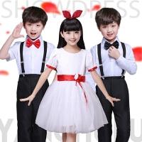 幼儿童大合唱团服表演服装公主裙女童小学生诗歌朗诵演出服
